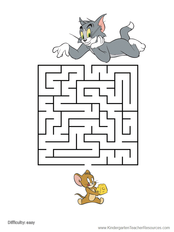 photograph relating to Vale Design Free Printable Maze called Printable Mazes with Tom and Jerry