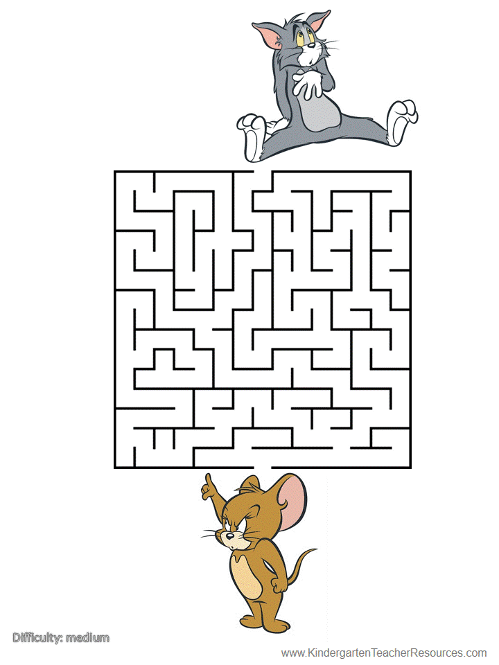 Printable Mazes on kindergarten mazes