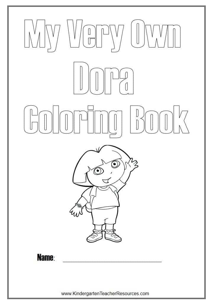 Dora Coloring Book Cover