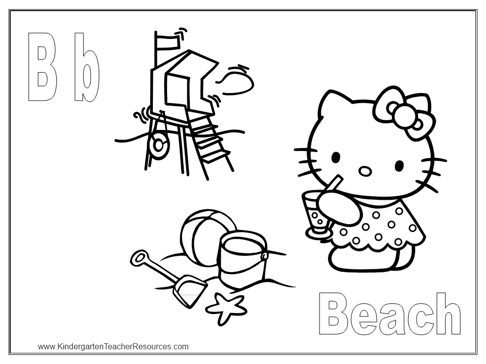 coloriage kitty a imprimer