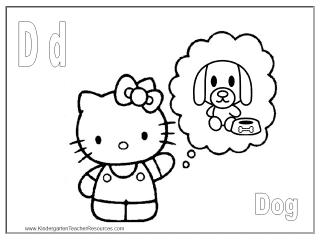 Letter D Coloring Sheet
