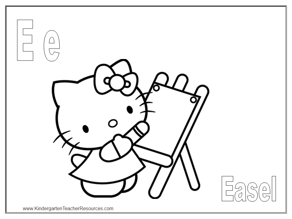 Free Hello Kitty Coloring Pages