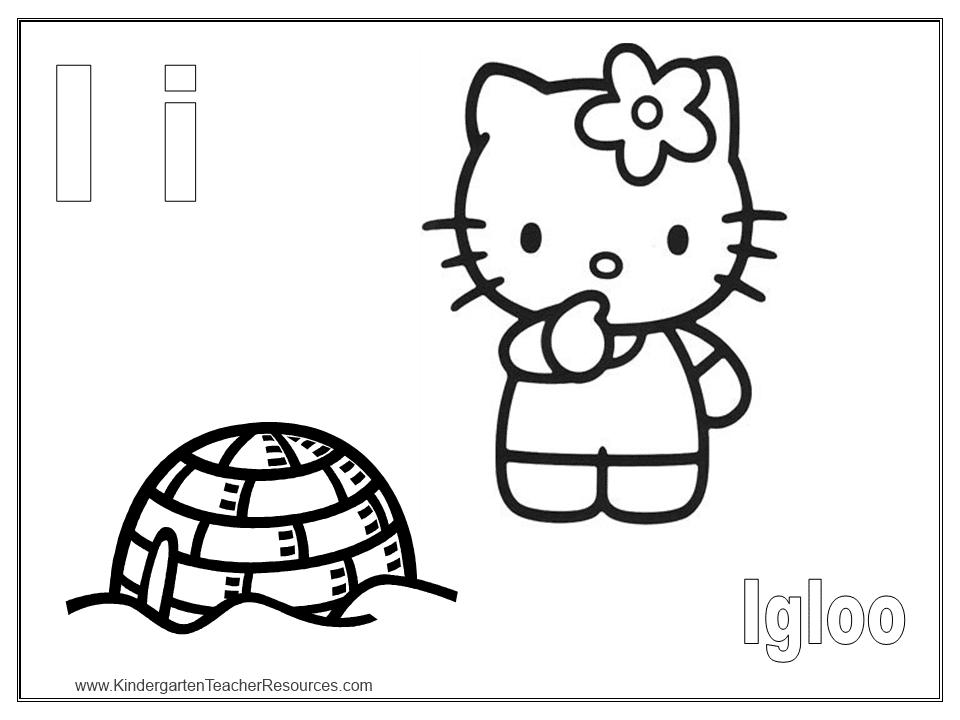 letter i coloring activitity - I Coloring Page