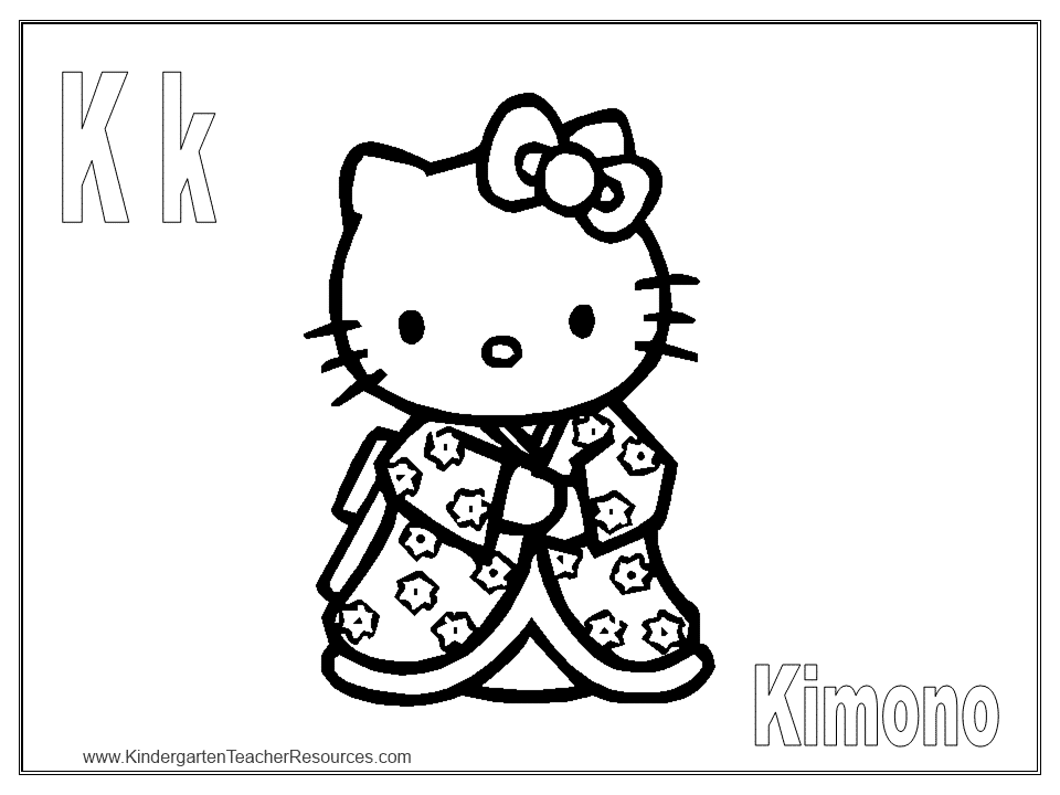 Hello Kitty Alphabet H Coloring Pages