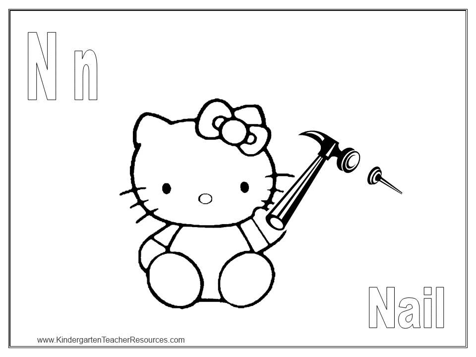 Hello Kitty Abc Coloring Pages : Search results for hello kids multiplication colour by