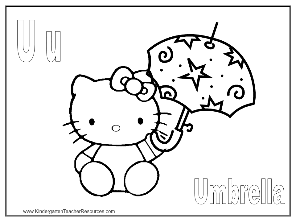 dessin hello kitty a colorier