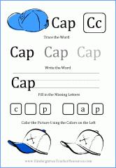 Printable kindergarten worksheet
