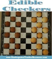 Edible checkers made from cookies