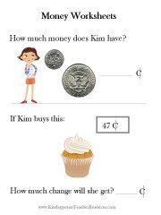 Kindergarten Money worksheets