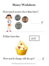 Free Kindergarten Money worksheets