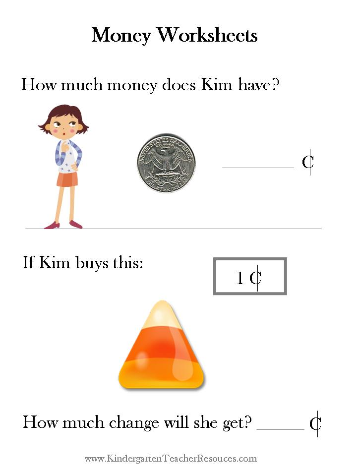moneyworksheets4jpgx44455 – Money Worksheets for Kindergarten Free