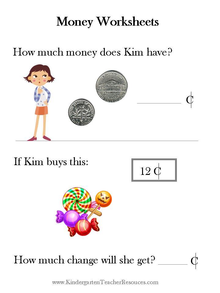Printable Worksheets maths money worksheets : Money-math-worksheets & Identifying Change Visually Worksheet ...