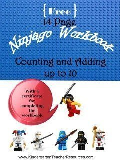 Ninjago Number Worksheets