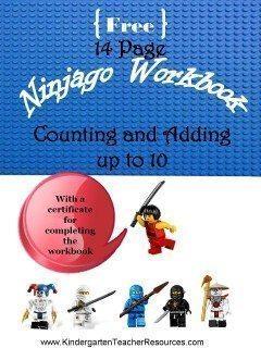 Kindergarten math workbook