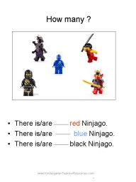 Ninjago kindergarten worksheets