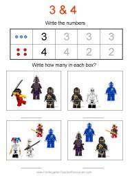 Ninjago kindergarten worksheet