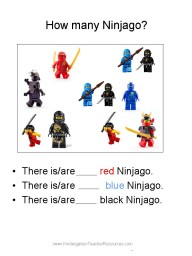 Ninjago math worksheet