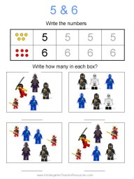 Ninjago worksheets