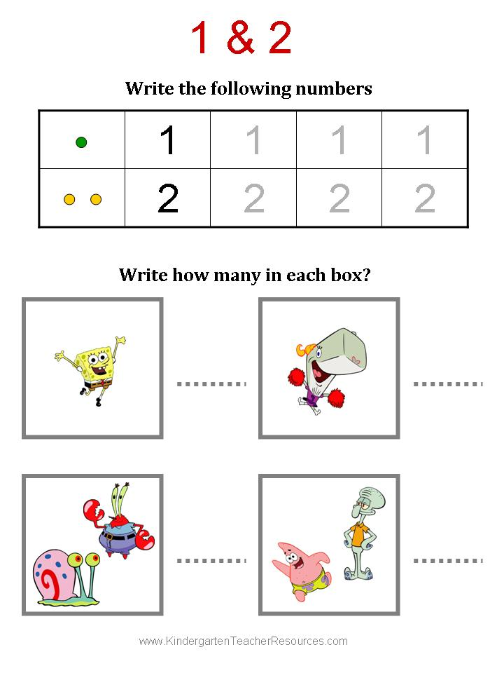 Math Worksheets counting on math worksheets : Spongebob Math Worksheets