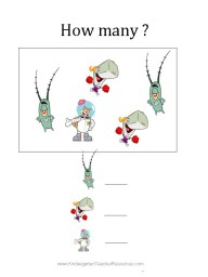 Spongebob worksheets