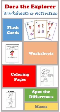 Dora worksheets