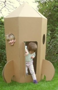 diy space ship for kids
