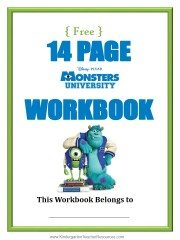Monsters University Number Worksheets