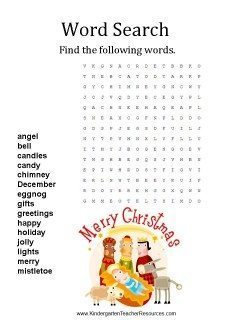 Xmas Word Searches