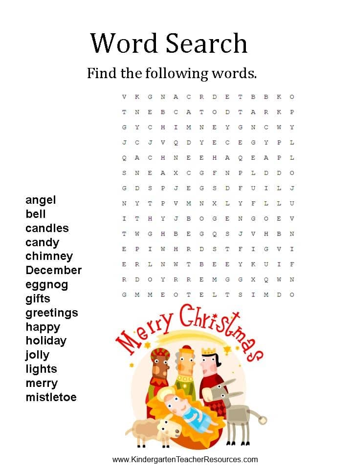 christmas-word-searches-4 Math Worksheets Dot To on color number, for grade 2, for 1st graders, fun free printable, 2nd second grade, free 6th grade, answer key,