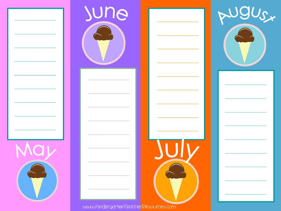 Calendar Poster For Classroom : Printable classroom calendars
