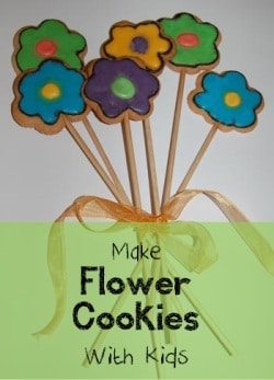 Making cookies with kids