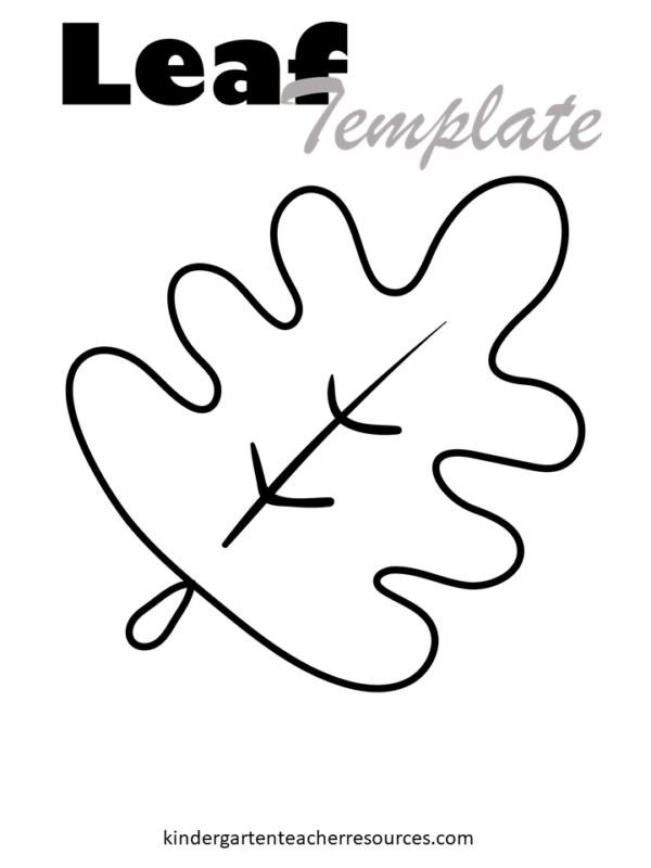 Autumn leaf template