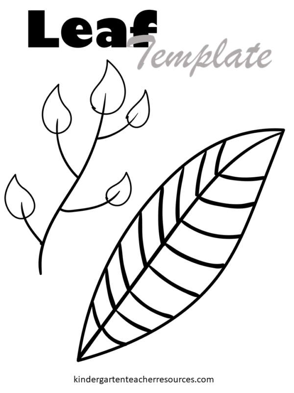 This leaf pattern printable has two leaves on one page