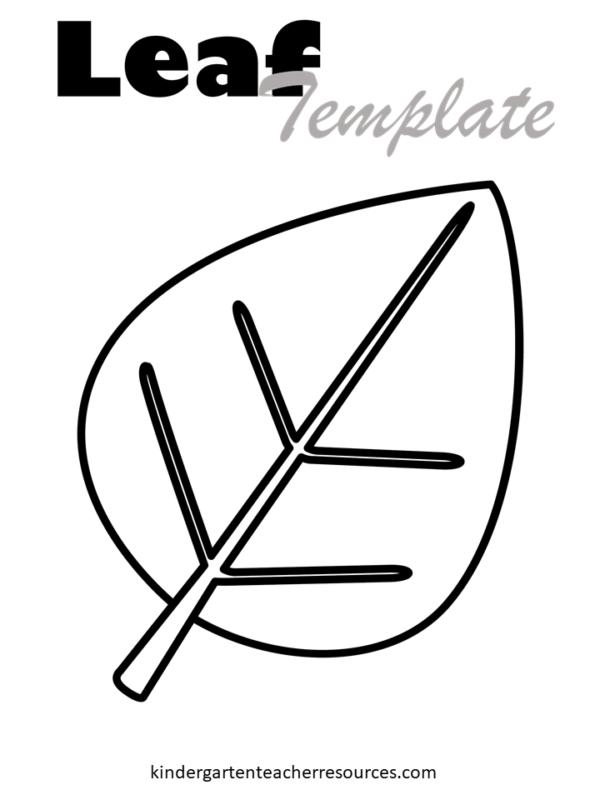 Free leaf template printable